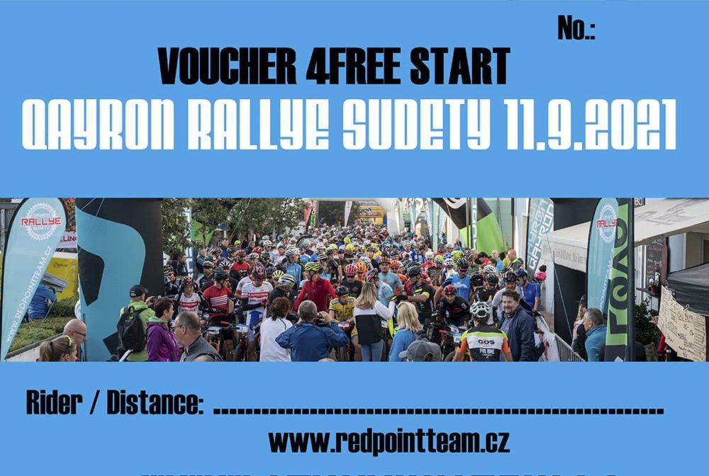 Poukaz Qayron Rallye Sudety 2021